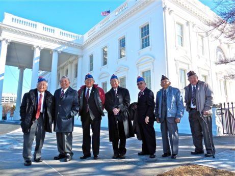 Veterans in front of White House